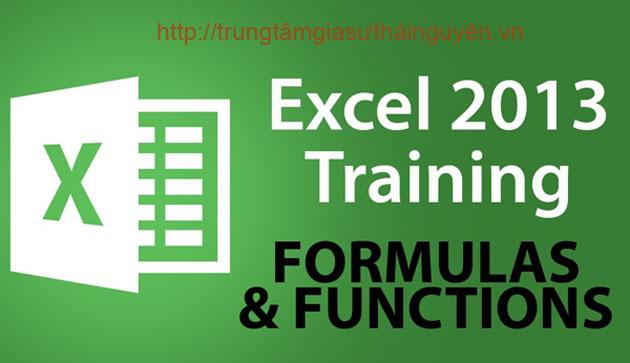 Gia sư Dạy Excel word tại thái nguyên