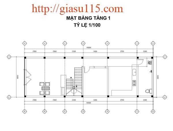 Bài tập thực hành autocad 2D phần Xây dựng